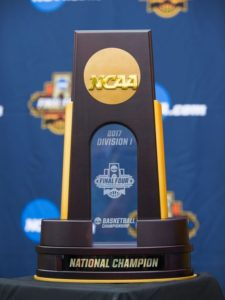 2017 NCAA Men's Basketball National Champion Trophy (Source: NCAA)