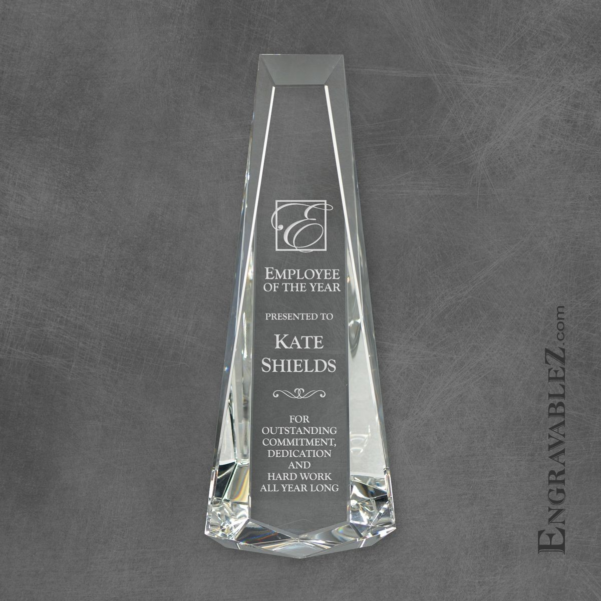 Rectangle Crystal Award