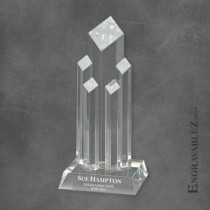 Diamond Tower Crystal Award