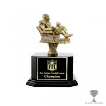 Golden Armchair Quarterback Trophy