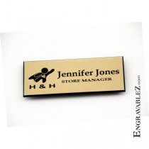 Logo Name Badge - Gold
