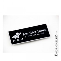 Logo Name Badge - Black