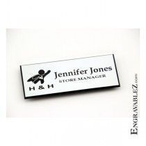 Logo Name Badge - White