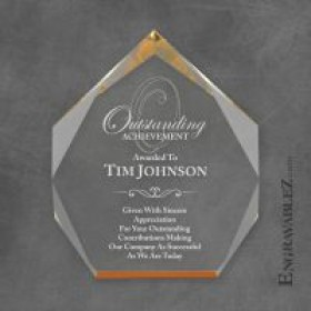 Gold Acrylic Octagon Award