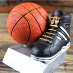 Basketball Sneaker and Ball Trophy