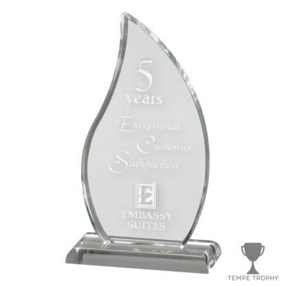 Clear Acrylic Flame Award Engraved