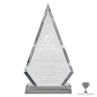 Arrowhead Clear Acrylic Award