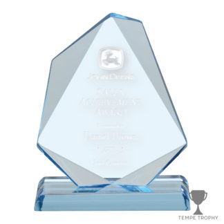Blue Jewel Engraved Acrylic Award