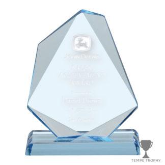 Blue Jewel Engraved Acrylic Award