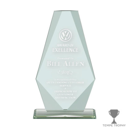 Sail Monument Jade Green Glass Award