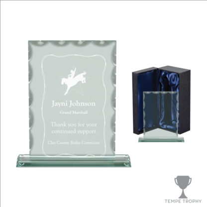 Keystone Scalloped Jade Glass Award