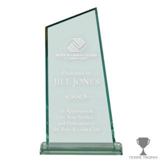 Pinnacle Jade Green Glass Award