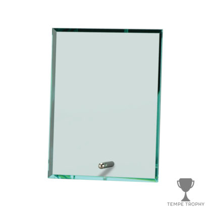 Portrait Glass Stand Award Jade Green