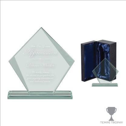 Engraved Diamond Glass Award