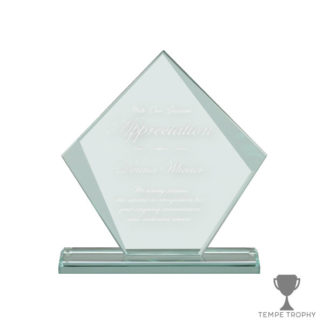 Engraved Diamond Glass Award