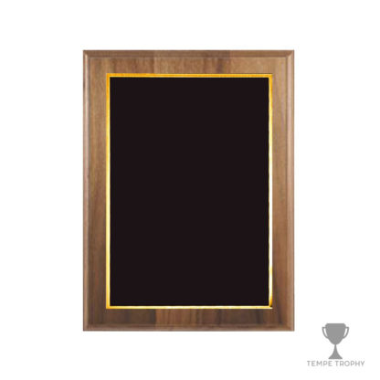 Brown Plaque with Black Gold Plate