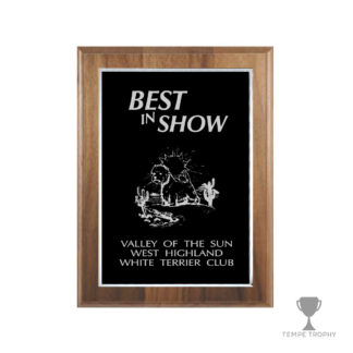 Classic Brown Plaque with Silver Engraving