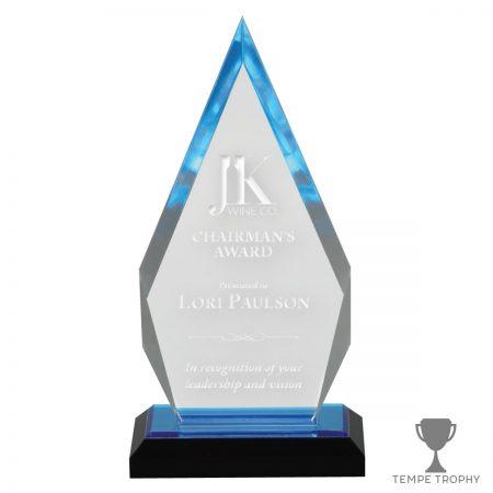Blue Arrowhead Acrylic Award