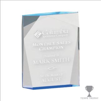 Blue Spectra Acrylic Award