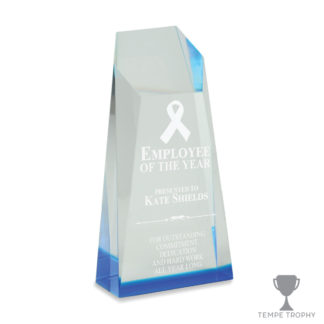 Blue Spectra Obelisk Acrylic Award