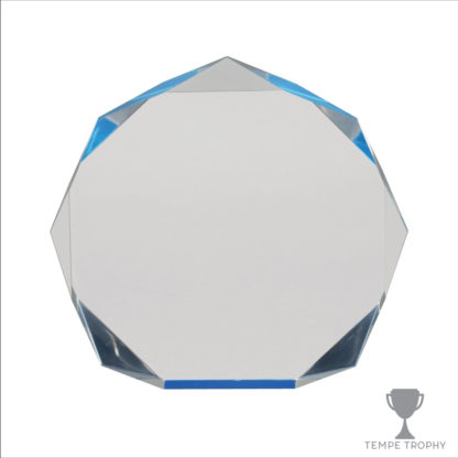 Blue Acrylic Octagon Award