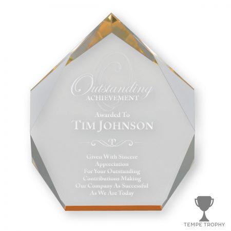 Amber Diamond Award Gold Spectra Acrylic