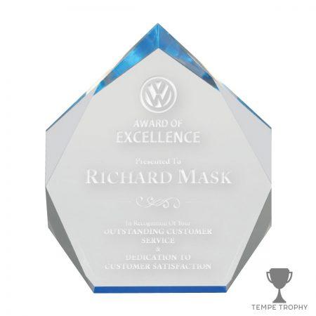 Bleu De France Blue Acrylic Award Spectra Diamond