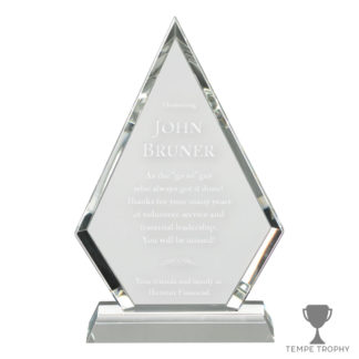 Clear Crystal Arrowhead Award