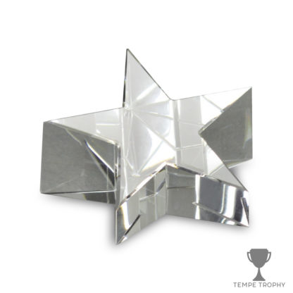 Clear Crystal Star Paperweight