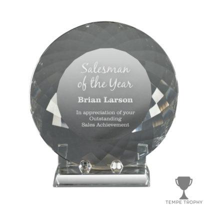 Facet Plate Crystal Award
