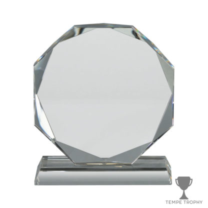Clear Crystal Octagon on Base