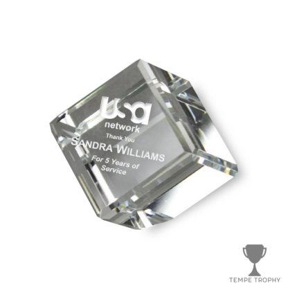 Cube Desk Paperweight Award