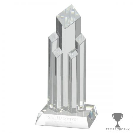 Diamond Tower Award Clear With Base