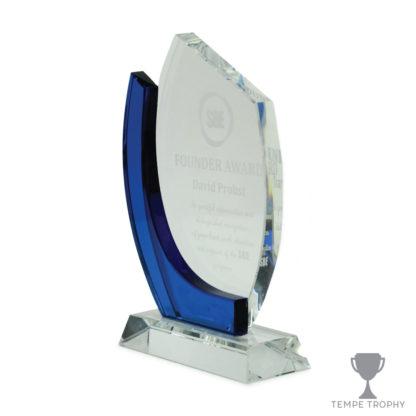 Chesapeake Blue Sapphire Crystal Award