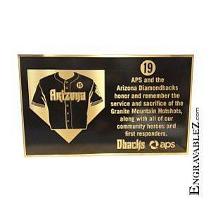 Hot Shot Bronze Memorial Plaque