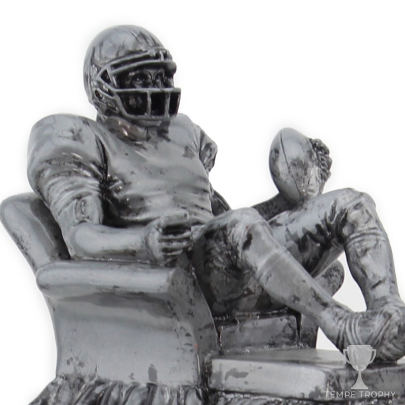 Silver Armchair Quarterback Trophy | Tempe Trophy